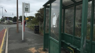 Newborn baby girl found in a bus shelter in north Wales.