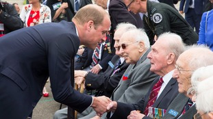 Prince William meets RAF veterans at Battle of Britain 
