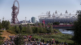 The Olympic Stadium in London.