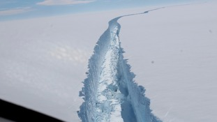 One of biggest icebergs on record breaks away from Antarctica ice shelf