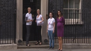 Kicks Count team at 10 Downing Street