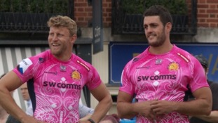 In the pink: Exeter Chiefs unveil their new kit