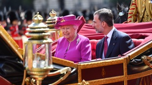 The monarch also had an audience with the British Queen during his visit.