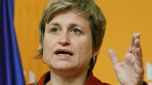 ERC (Esquerra Republicana de Catalunya) spokeswoman Simo attends a news conference in Barcelona