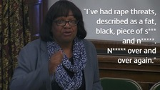 Diane Abbott speaks during the debate.