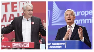 Carwyn Jones and Michel Barnier