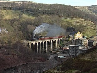 George Stephenson's 13 arch viaduct in Calderdale