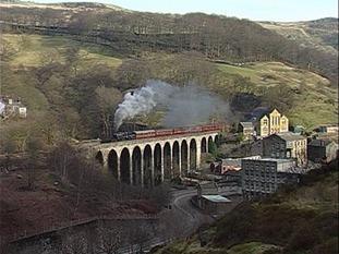 George Stephenson's 13 arch viaduct in Calderdale