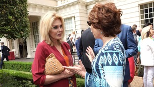 Actress Joanna Lumley and author Kathy Lette were among the guests.