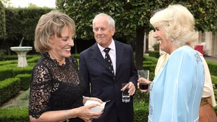 The Duchess also enjoyed a giggle with Esther Rantzen.