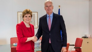 Michel Barnier also met with Scotland's First Minister Nicola Sturgeon.