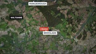 The plane crashed in Brimslade, Marlborough at around 6.30pm.