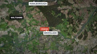 The plane crashed in Brimslade near Marlborough.