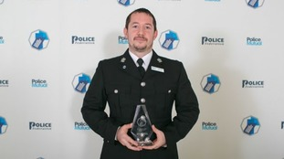Police officer's bravery award for river rescue