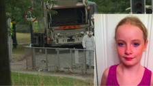 Holly Brown died in a crash involving a minibus and a bin lorry