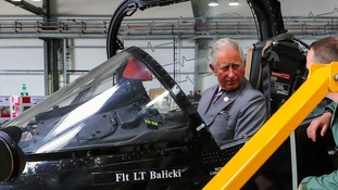Royal 'flyness' visits RAF training base