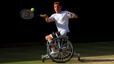 Alfie Hewett has the chance to defend his doubles title on Sunday