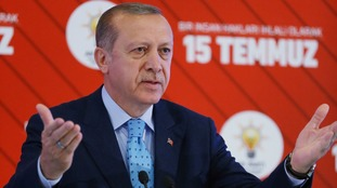 After crushing the attempted takeover, President Erdogan went on to win a referendum in April.