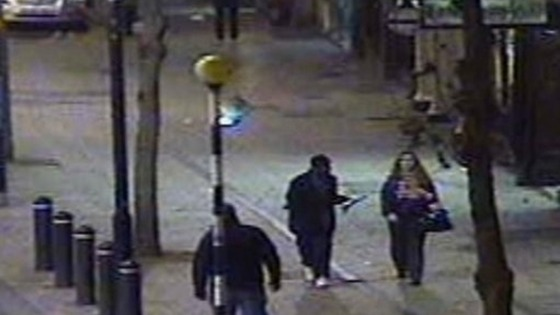 CCTV showing Shelley talking to an unknown man