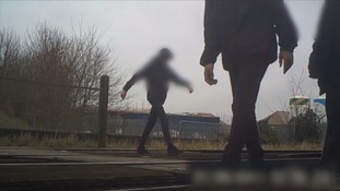 SHOCKING FOOTAGE: Youngsters risk lives by playing on railway tracks