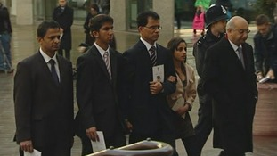 The family of royal nurse Jacintha Saldanha arrive at Westminster Cathedral with Keith Vaz MP