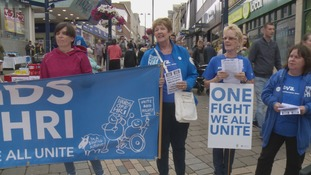 Campaigners trying to save Huddersfield's hospital stage protest on streets
