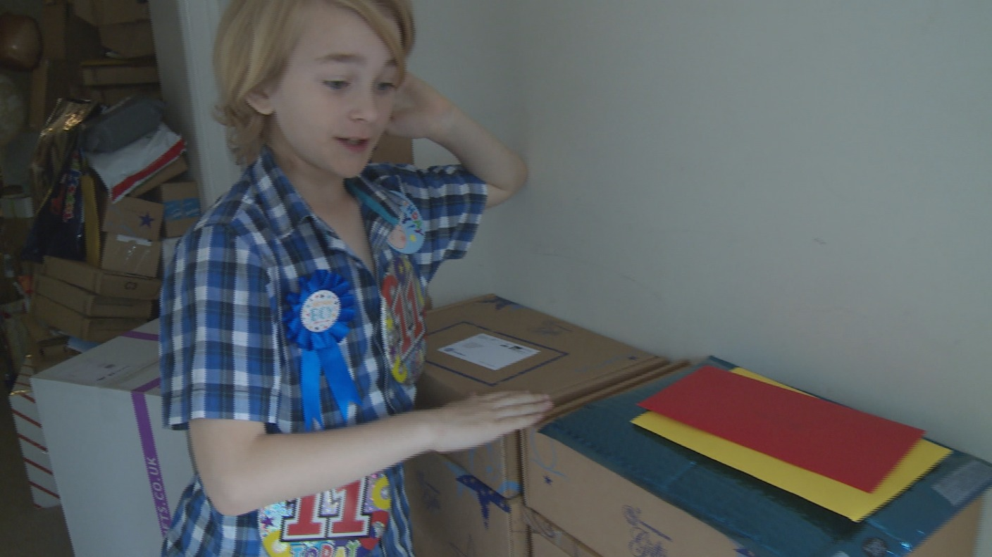 11 Year Old Boy Overwhelmed With Presents A Year After