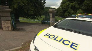 A police cordon in place at Bakers Park.