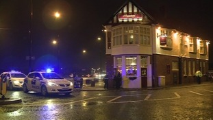 Officers were called to the Wheatsheaf pub in Benton at about 5pm yesterday.