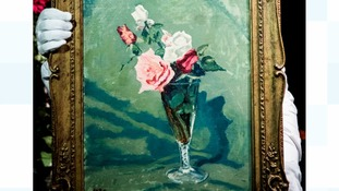 Churchill's painting of roses which cheered up Vivien Leigh is up for auction