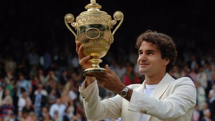 Federer's fourth Wimbledon title was against Rafael Nadal.