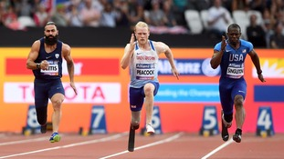 Jonnie Peacock sprints to victory in T44 100m at Para Athletics Championships