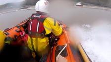 Lifeboat approaching beach