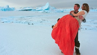 The couple took their vows at the British Antarctic Survey's Rothera Research Station.