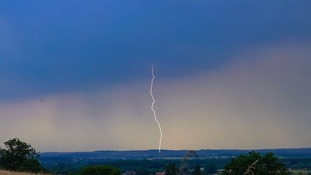 Lightning at  Nettleton, Lincs