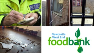 The UK's busiest foodbank has been forced to close its doors after vandals broke in and destroyed its main hand-out point.