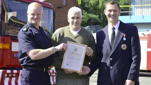Whitley Bay man honoured for his bravery after rescuing a pensioner from a burning building