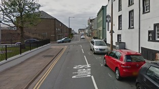 The teenage girl was approached on Duke street in Whitehaven