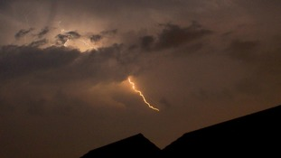 Warning of scattered thunderstorms in the Anglia region