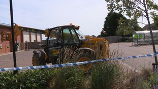 The JCB was left at the scene.