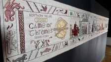 The tapestry was unveiled as fans gear up for the start of the new series.