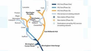 How the new route will look from London.
