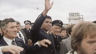 "Known as ""The Greatest"" - Muhammad Ali during his visit to Tyneside 40 years ago"