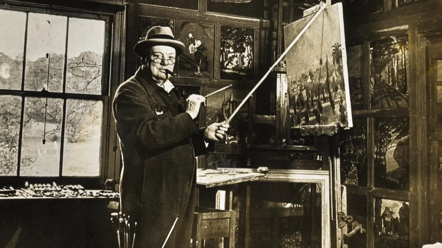 Sir Winston Churchill Painting Which Cheered Up Vivien