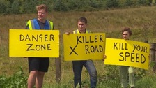 Campaigners say most people respond well to their signs.