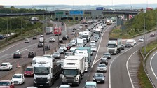 On Sunday 2.8 million vehicles are expected to be on the road.
