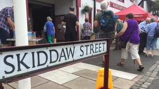 Part of the convention takes place on Skiddaw street, Keswick