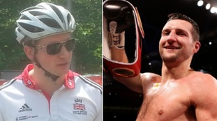 Olympic gold medallist Jason Kenny (l) and boxing legend Carl Froch (r)