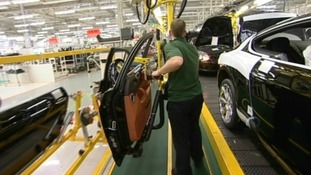 Man working on Bentley production line