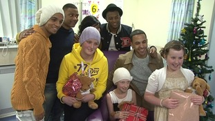 JLS make surprise visit to Birmingham Children's Hospital